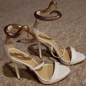 Bebe white heels